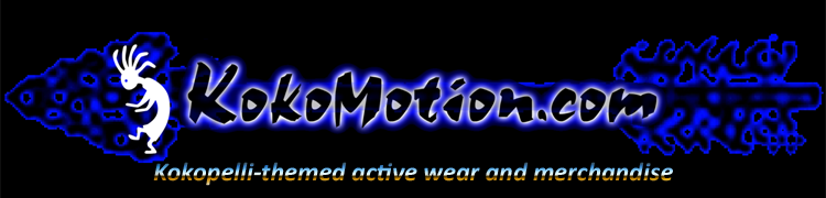 KokoMotion.com - Kokopelli-themed activewear and merchandise